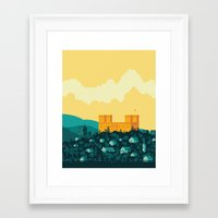 golden Framed Art Prints featuring Golden castle by Roland Banrevi