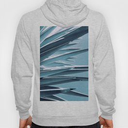 Palm Rays - Duotone Black and Teal Hoody