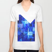 discount V-neck T-shirts featuring Sapphire Nebulæ by Aaron Carberry