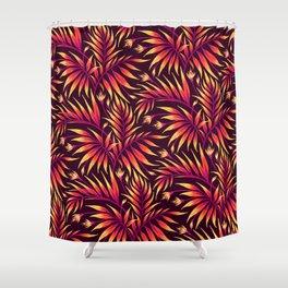 Waikiki Palm - Orange Shower Curtain