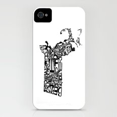 Typographic Massachusetts Slim Case iPhone (4, 4s)