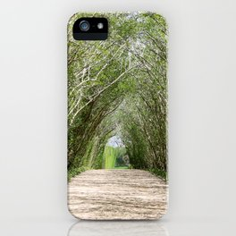 Natural Tree Branch Tunnel iPhone Case
