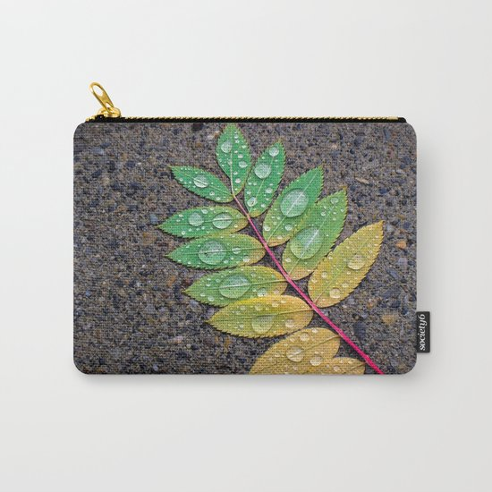 Raindrop Leaf Carry-All Pouch