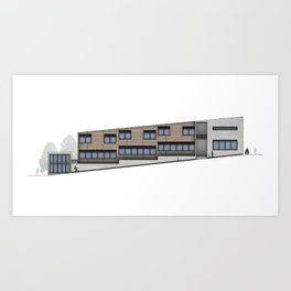 School Facade Art Print