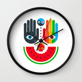 Idle Hands Wall Clock
