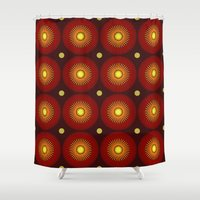 brown Shower Curtains featuring brown by sustici
