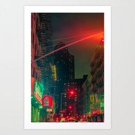 NYC Chinatown Art Print
