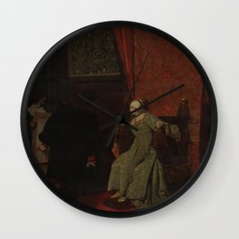 Jean-Paul Laurens - Columbus before Isabella Wall Clock