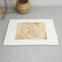 Da Vinci Horse In Piaffe Rug