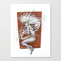 third eye Canvas Prints featuring Third Eye by Beatrice Huxley
