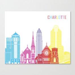Charlotte skyline pop Canvas Print