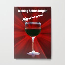 Wine Holiday Cards Wine Country Christmas Cards Metal Print