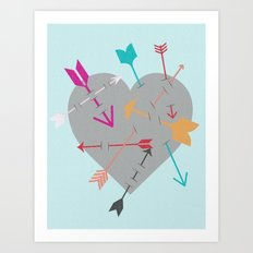 Arrow Heart Art Print