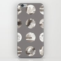 moon phases iPhone & iPod Skins featuring Moon phases by Dreamy Me