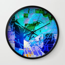 Blue Mantle Wall Clock