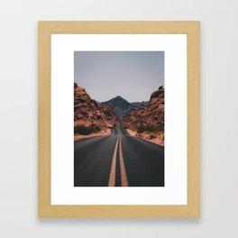 Desert Road Framed Art Print
