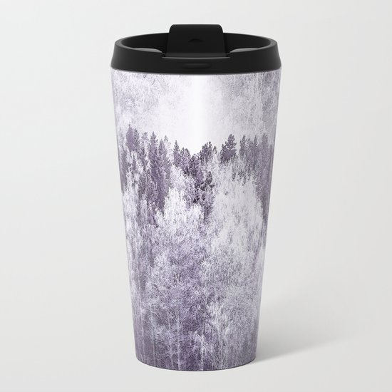 Captivating landscape - beautiful forest in winter colors Metal Travel Mug