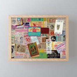 Ticket Stubs Concert Junkie - The Dead Framed Mini Art Print