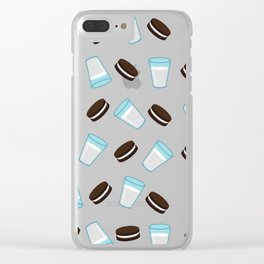 Oreo and milk pattern Clear iPhone Case