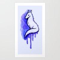 starfox Art Prints featuring Starfox by Pastel Rose
