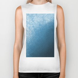 Abstract watercolor navy blue ombre brushstrokes Biker Tank
