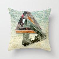 escher Throw Pillows featuring escher hitch by Vin Zzep