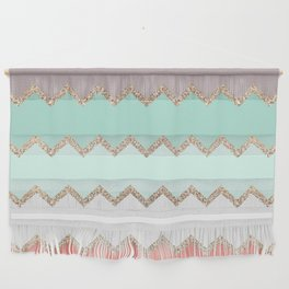 AVALON CORAL MINT Wall Hanging