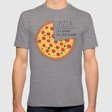 Pizza Pie Chart Tri-Grey LARGE Mens Fitted Tee