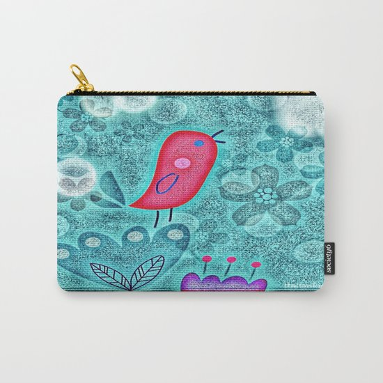 Flower Birdie Carry-All Pouch