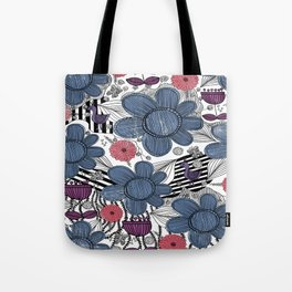 Whimsical Floral Pattern Tote Bag