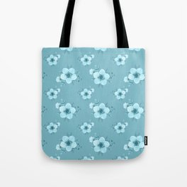 Modern elegant pastel blue white hand painted floral Tote Bag