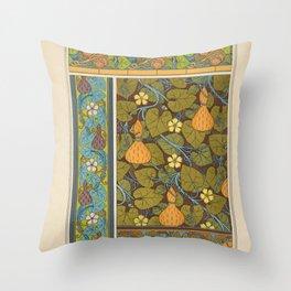 Maurice Pillard Verneuil - Plants and their Ornamental Applications (1896) - Squash 2 Throw Pillow