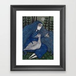 The White Duck Framed Art Print