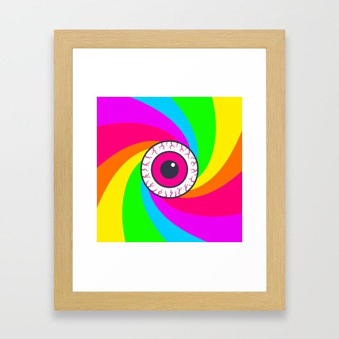 Neon Gaze Framed Art Print