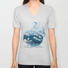 Indigo Sea Unisex V-Neck
