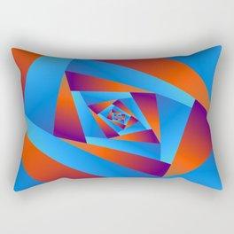 Orange and Blue Spiral Rectangular Pillow