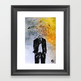 Man-Birds Framed Art Print