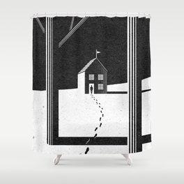Walking Home/Deposit NY Shower Curtain