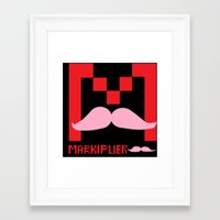 markiplier Framed Art Prints featuring Markiplier Logo by pokelayfe