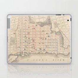 Vintage Map of Jacksonville FL (1878) Laptop & iPad Skin