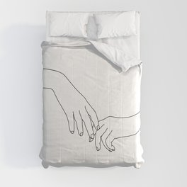 Hands line drawing illustration - Daily Comforters