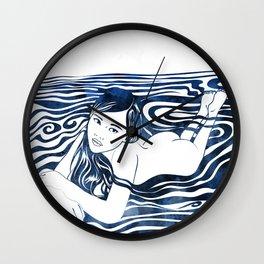 Water Nymph V Wall Clock