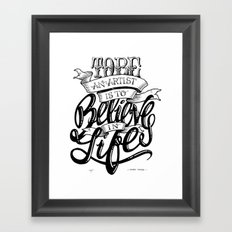 Quote - HMoore 1 - Typedesign Framed Art Print