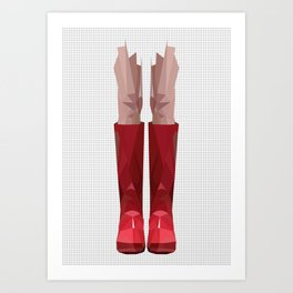 My lovely rain booths Art Print