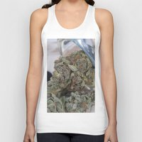 medical Tank Tops featuring Silver Afghan Medical Marijuana by BudProducts.us