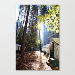 Yosemite Valley, Camp Curry Canvas Print