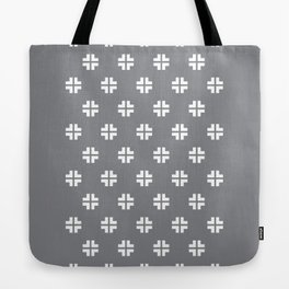 Scandinavian / Light Grey + White Tote Bag