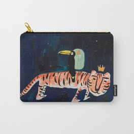 Tiger, Cheetah, Toucan Painting Carry-All Pouch