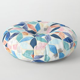 Gilded Marble Mosaic  Floor Pillow