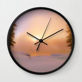 Ethereal Winter Sunrise Wall Clock